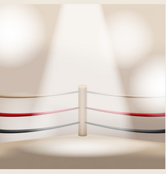 Brown boxing light empty stage vector