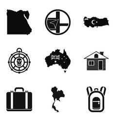 cartography icons set simple style vector image
