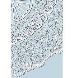 crocheted lace vector image