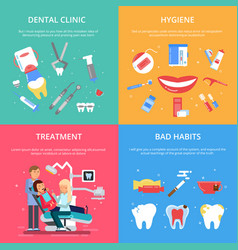 dentist reception healthcare concept vector image