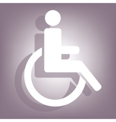Disabled icon with shadow vector