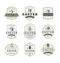 Easter badges and labels design elements vector