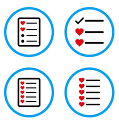 Favourites list rounded icons vector