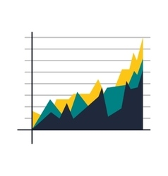 Graph chart icon vector