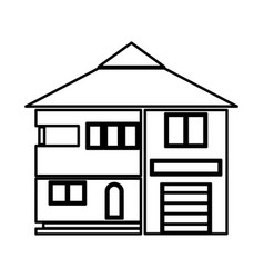 house black color icon vector image vector image