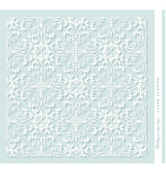 laser cut decorative panel damask for printing vector image vector image
