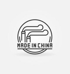 Made in china concept icon vector