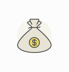 money bag colorful icon vector image