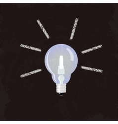 Nice Idea Glowing Lightbulb concept vector image