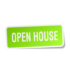 Open house square sticker on white vector