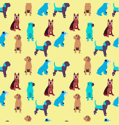 Pattern with dogs colorful background vector