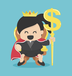 queen of business with silver symbol vector image
