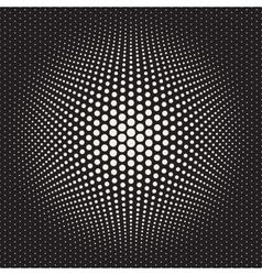 Seamless halftone circles bloat effect vector