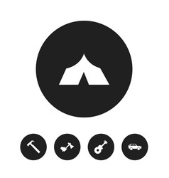 Set of 5 editable travel icons includes symbols vector