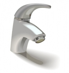 single hole basin mixer vector image