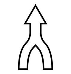 Unite arrow up outline icon vector
