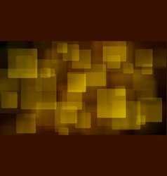 yellow abstract background of blurry squares vector image vector image