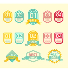 Modern soft color design label vector