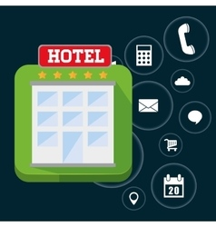 Hotel and digital apps design vector