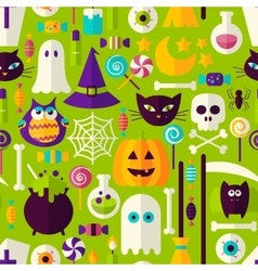 Halloween holiday seamless pattern vector