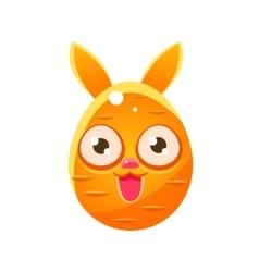 Orange egg shaped easter bunny vector