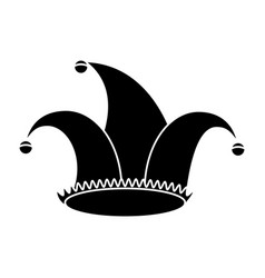 jester hat celebration ornament pictogram vector image