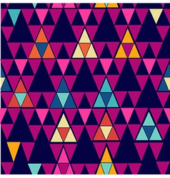 Trendy vintage hipster geometric seamless pattern vector image