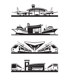 Passenger transport terminals vector