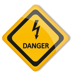 Label electricity hazard vector