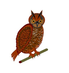 An owl on a white background vector