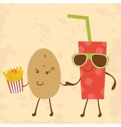 Potato and Coke vector image