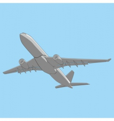 Illustration airliner vector