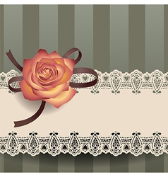 Vintage lace ribbon vector