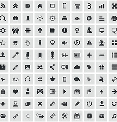 100 webdesign icons vector