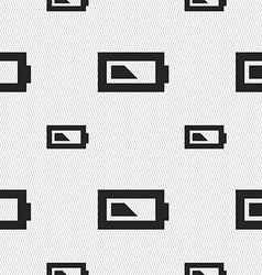 Battery half level icon sign seamless pattern with vector