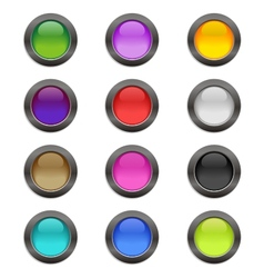 Color crystal buttons vector