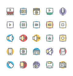 Multimedia cool icons 2 vector