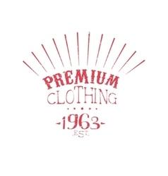 Premium clothing vintage emblem vector