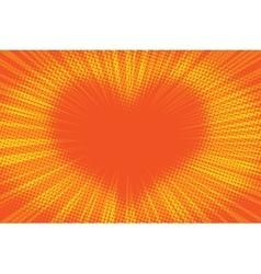 Yellow orange background heart vector