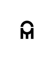 Abstract initial letter om logo concept design vector