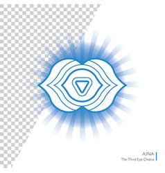 Ajna - six chakra of human body vector