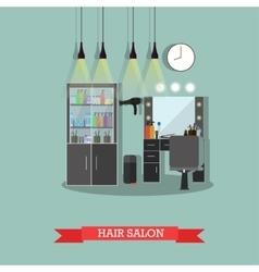 Beauty salon interior concept banners hair vector