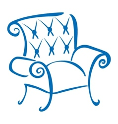 Blue armchair vector image