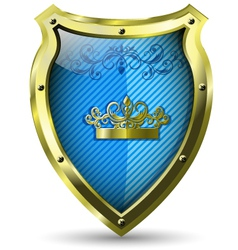 blue shield vector image vector image