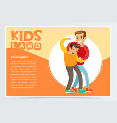 boy beating by another kid suffering from vector image vector image