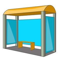 Bus stop icon cartoon style vector
