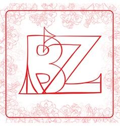 Bz monogram vector