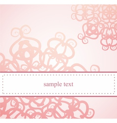 Classic elegant floral card or ornament invitation vector image vector image