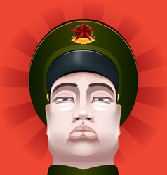 Communist soldier vector image vector image