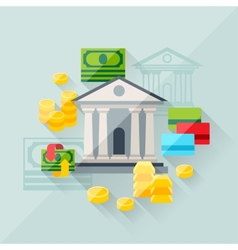 concept of banking in flat design style vector image